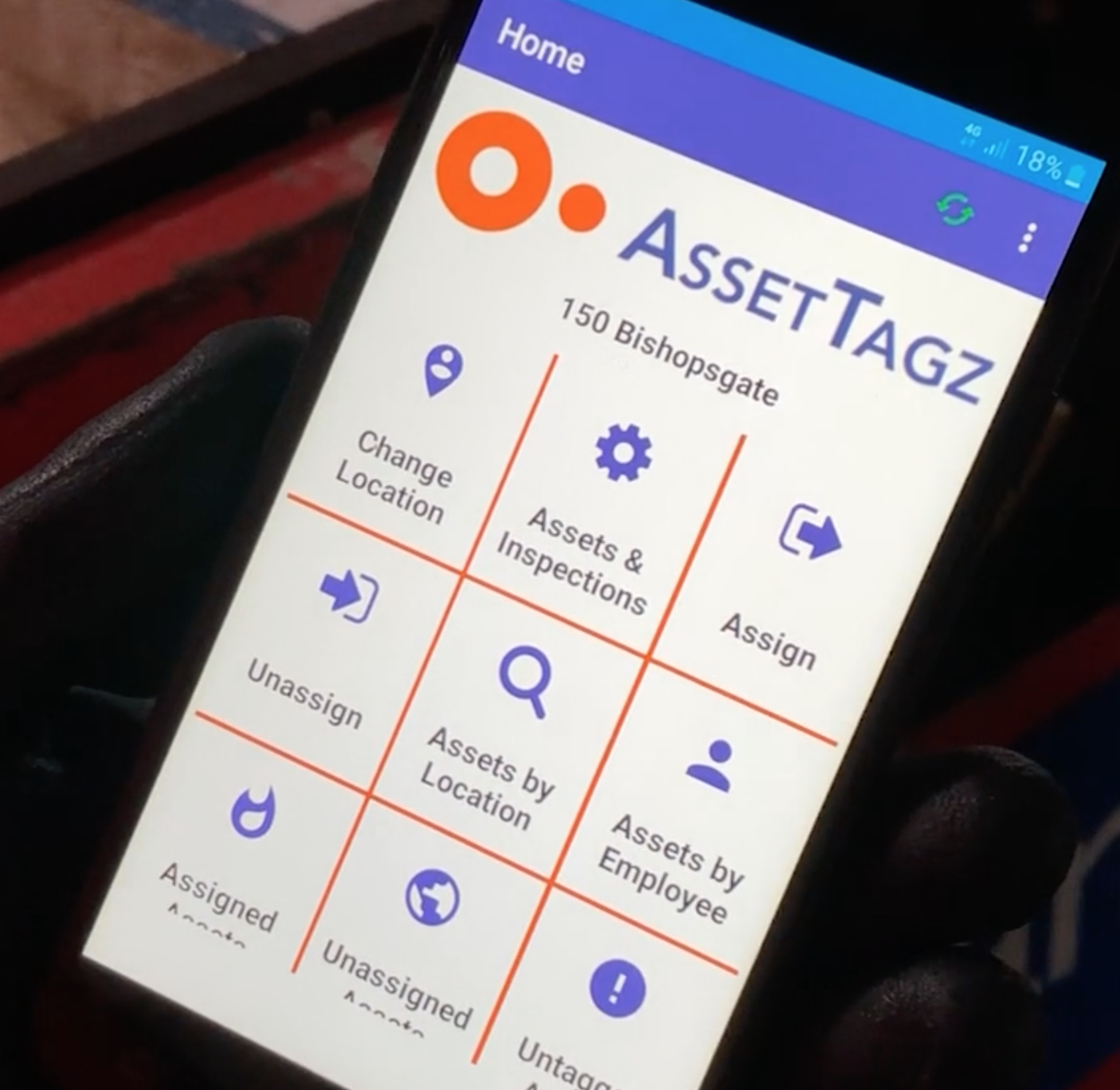 Rugged device with Assettagz app