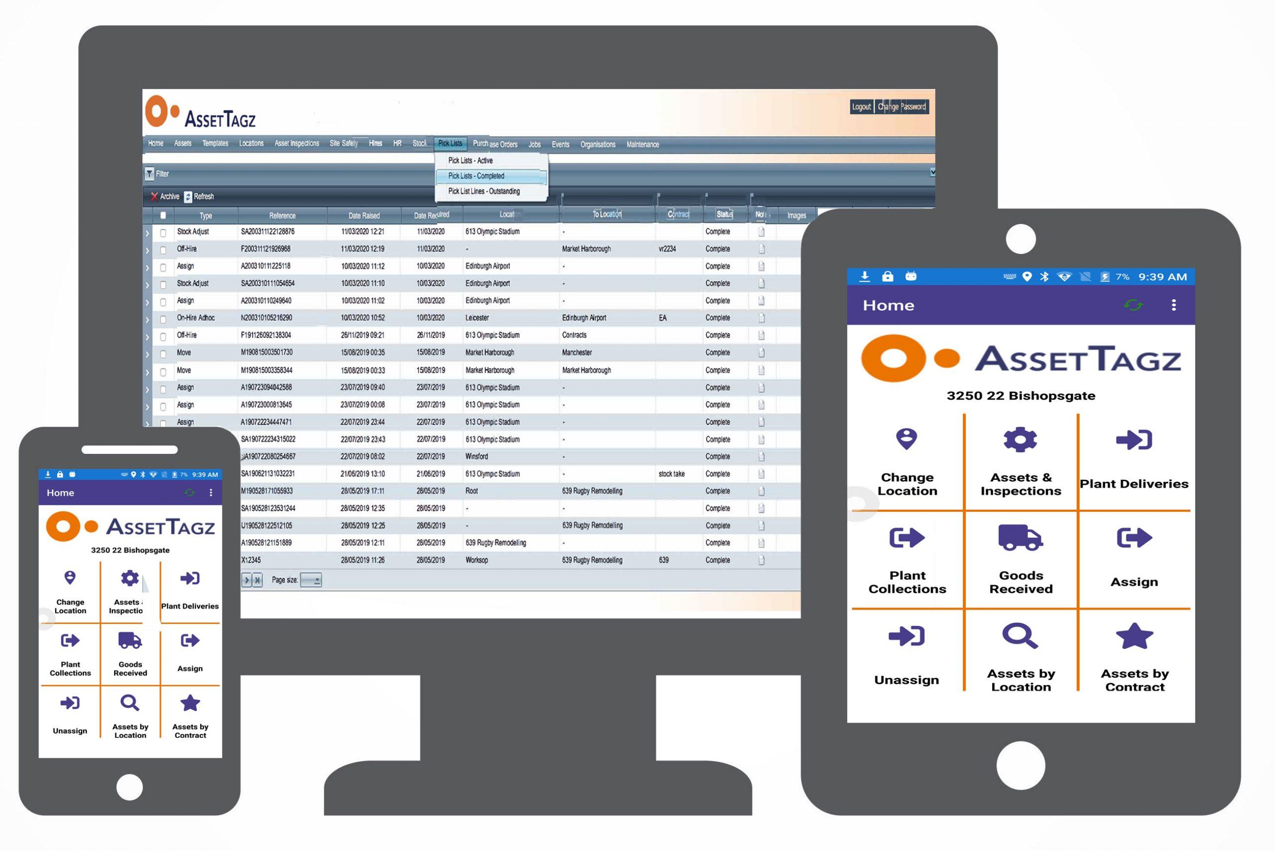 mobile and desktop screens